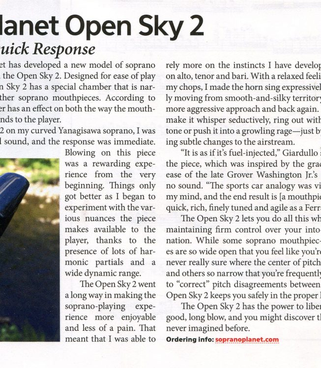 OPEN SKY 2  Downbeat Review
